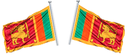 Two Shi Lancan flags
