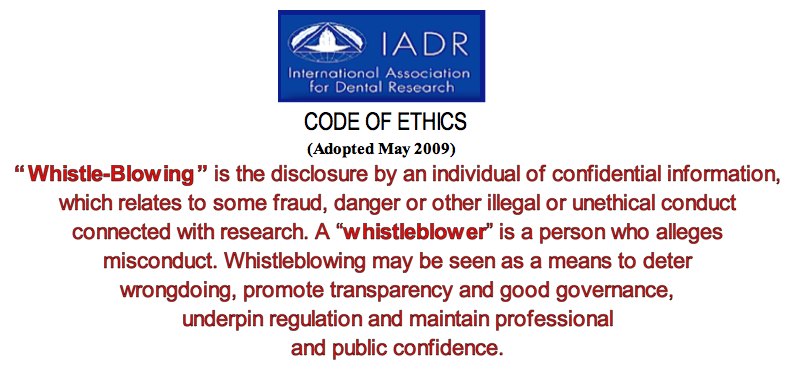 IADR code of ethics