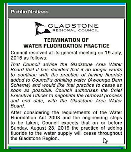 gladstone f. public notice
