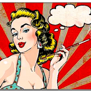 smoking lady cartoon copy