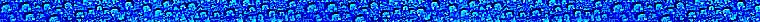 blue strip of bubbles