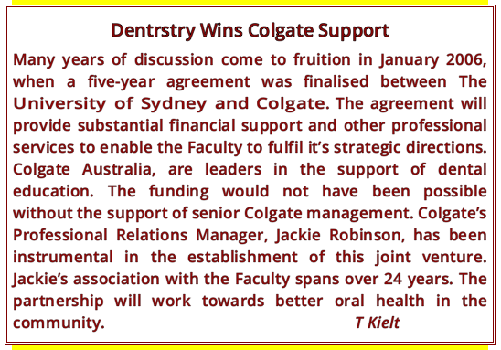 Dentistry wins Colgate support