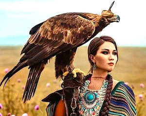 indian-lady-and-eagle